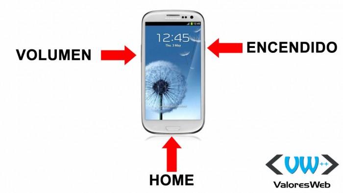 Botones del Samsung Galaxie S3
